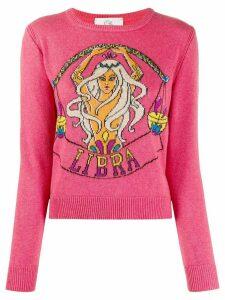 Alberta Ferretti Libra-instarisia sweater - PINK