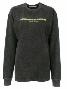 Alexander Wang embroidered logo sweatshirt - Black