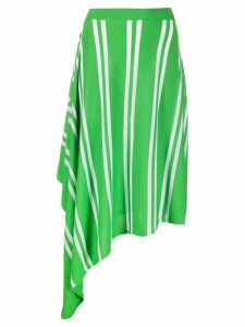 Mm6 Maison Margiela asymmetric striped skirt - Green