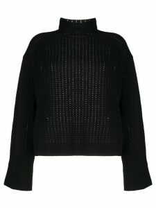 By Malene Birger perforated knit jumper - Black