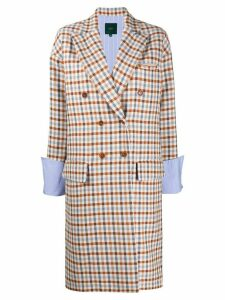 Jejia double-breasted check blazer coat - NEUTRALS
