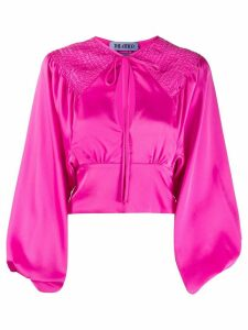 The Attico ruched fitted blouse - PINK