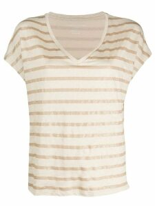 Majestic Filatures striped print T-shirt - NEUTRALS
