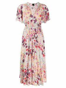 Pinko floral print elasticated dress