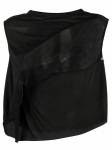 Rick Owens Lilies sheer-panel cropped top - Black