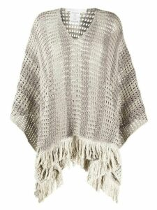 Fabiana Filippi open knit kaftan - Grey