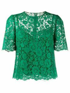 Dolce & Gabbana floral lace blouse - Green