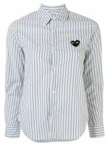 Comme Des Garçons Play striped-print branded shirt - Blue