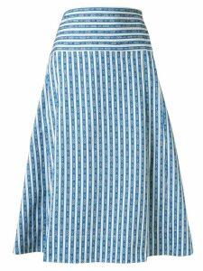 Tory Burch Gemini Link-print wrap skirt - Blue