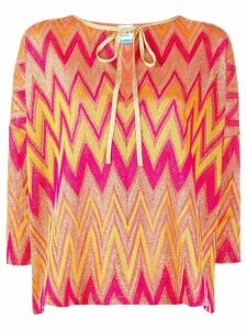 M Missoni Zigzag three-quarter blouse - PINK