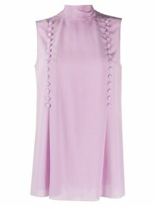 Givenchy button detailed sleeveless blouse - PINK
