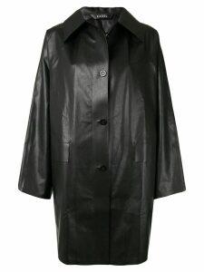 Kassl Editions Oil Original single breasted coat - Black