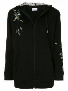 RedValentino floral print hoodie - Black