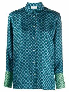 Sandro Paris geometric print silk shirt - Blue