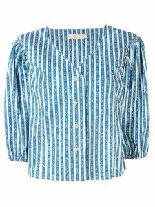 Tory Burch Gemini Link-print cotton shirt - Blue
