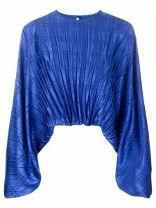 Federica Tosi pleated print blouse - Blue