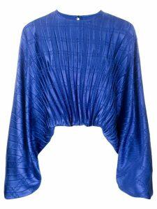 Federica Tosi pleated print blouse - Blue