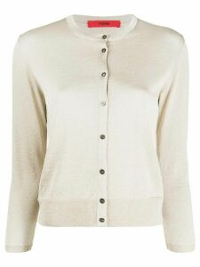 Roberto Collina round neck cardigan - GOLD