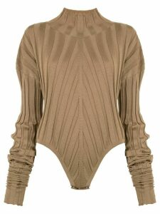 Boyarovskaya ribbed knit bodie - Brown
