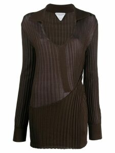Bottega Veneta desconstructed knitted jumper - Brown
