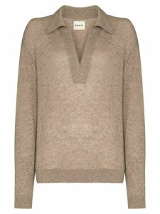 Khaite Jo open collar jumper - NEUTRALS
