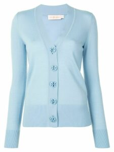 Tory Burch Simone V-neck merino cardigan - Blue