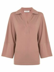 Lemaire V-neck long sleeved top - PINK