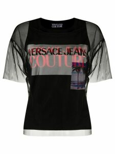 Versace Jeans Couture sheer layered T-shirt - Black