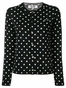 Comme Des Garçons Play polka-dot buttoned cardigan - Black