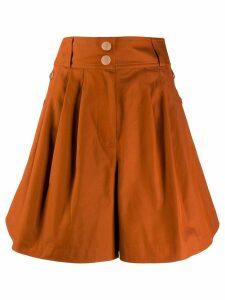 See by Chloé wide leg shorts - ORANGE