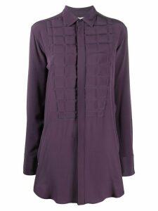 Bottega Veneta quilted front shirt - PURPLE