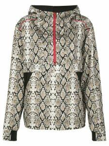 ALALA snakeskin-print hoodie - White