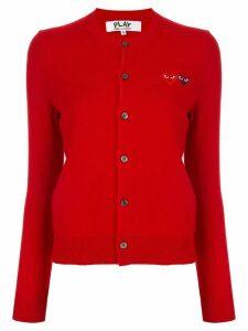Comme Des Garçons Play double-logo cardigan - Red