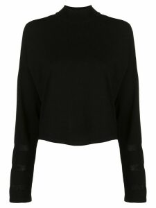 DVF Diane von Furstenberg sheer panel jumper - Black