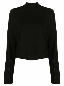 DVF Diane von Furstenberg sheer panel jumper - Black