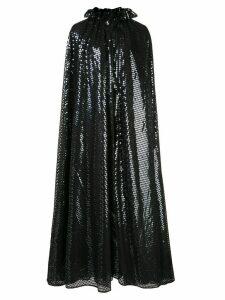 Halpern embellished long cape - Black