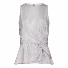 Adrianna Papell Foil Jersey Top