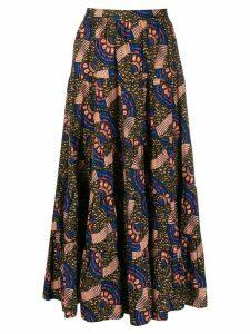 Ulla Johnson cubism print midi skirt - Blue