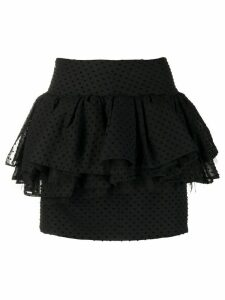 Alexandre Vauthier polka-dot ruffled skirt - Black
