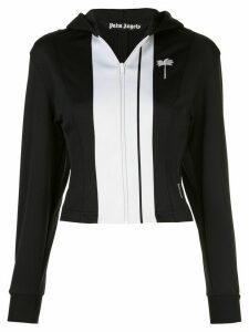 Palm Angels contrast-panel hoodie - Black