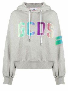 Gcds logo-print cotton hoodie - Grey