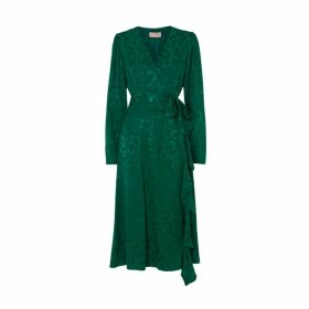 Kitri Myra Animal Print Wrap Dress