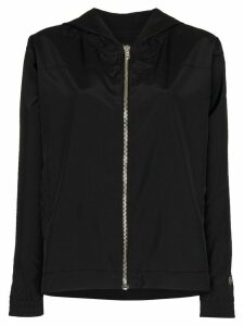 Rick Owens X Champion zip-up hooded windbreaker - Black