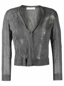 Fabiana Filippi wrinkle effect cardigan - Grey