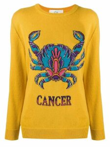 Alberta Ferretti Love Me Starlight Cancer jumper - Yellow