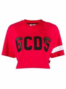 Gcds cropped logo T-shirt - Red