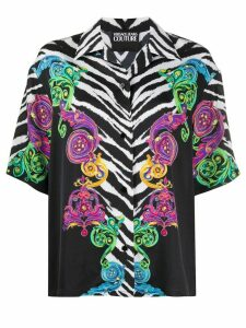 Versace Jeans Couture short sleeved zebra print shirt - Black
