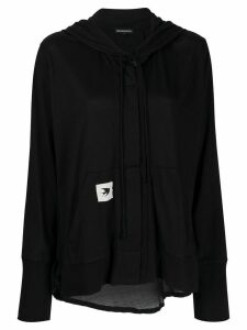 Ann Demeulemeester button-up cotton hoodie - Black