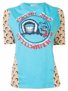 Marine Serre colour block T-shirt - Blue
