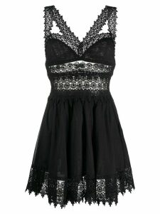 Charo Ruiz Ibiza lace trim dress - Black